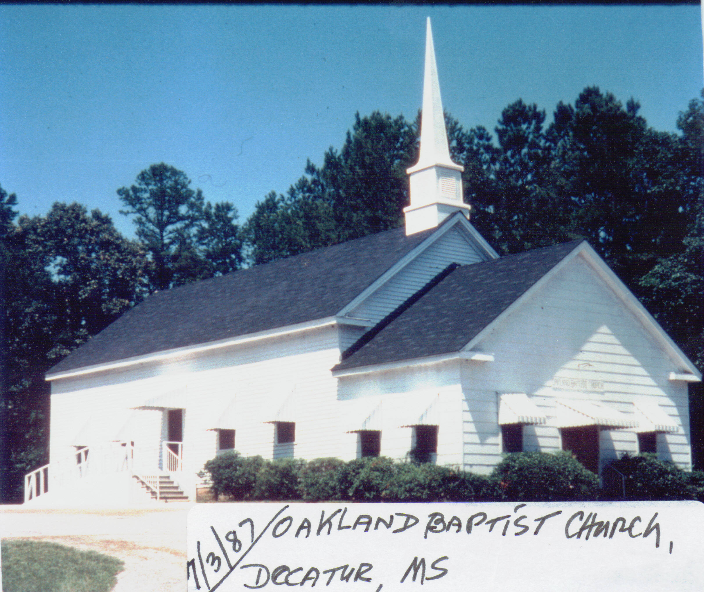 Mississippi newton county decatur - Oakland Baptist Church Decatur Ms 7 3 1987 Thumbnail