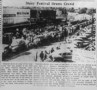Dairy Festival November 1949 in Newton MS Thumbnail