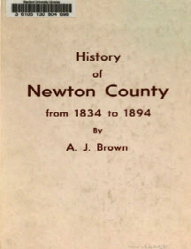 History of Newton County Mississippi 1834-1894 by A J Brown