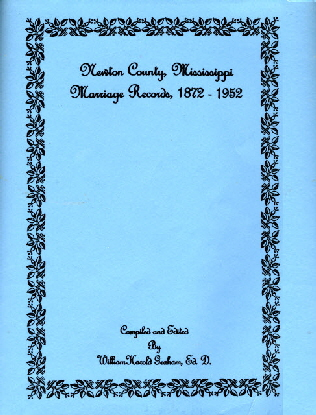 Newton County Marriage Records 1872-1952